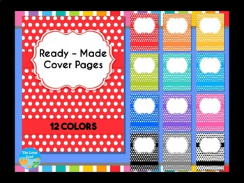 BUNDLE : Cover Pages Brights : 3 Sets - Solids, Chevron, Polka Dots