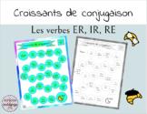 BUNDLE Croissants de Conjugaison - French ER, IR, RE Verbs