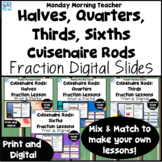 BUNDLE Cuisenaire Rods Fraction Investigation Lesson Slide