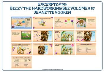 BUNDLE: DAYS OF THE WEEK, TENSES, VERBS: BIZZY THE HARDWORKING BEE VOL 8