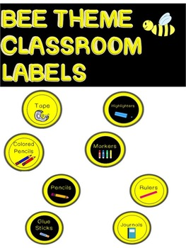 BUNDLE DISCOUNT! Bee Theme classroom labels, behavior chart, and table numbers!