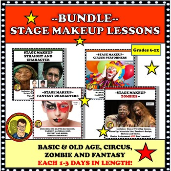 BUNDLE: STAGE MAKEUP DESIGN OLD AGE/CIRCUS/ZOMBIE/FANTASY DISTANCE LEARNING