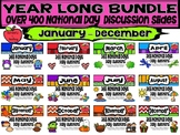 BUNDLE Daily Discussion Slides - National Days