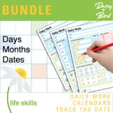 BUNDLE Daily Work + Calendars