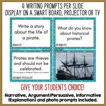 BUNDLE Daily Writing Prompts NZ - PowerPoint, Journal & Worksheet FULL YEAR