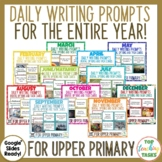 Writing Prompts Task Cards and Digital Full Year Bundle |