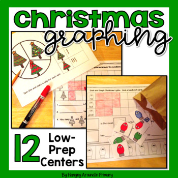 Christmas Math Centers for Graphing (Data Management) BUNDLE