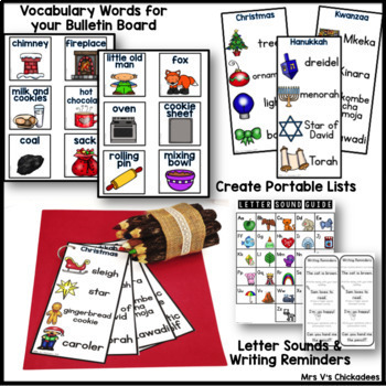 BUNDLE: December Writing Activities and Centers