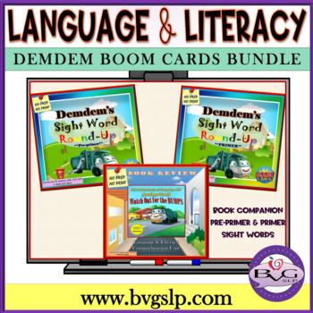 BUNDLE Demdem Comprehension Literacy Sight Word Boom Cards - Teletherapy