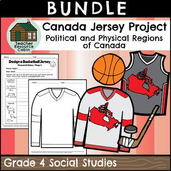 BUNDLE: Designing a Canadian Physical Regions Jersey (Grade 4 Social Studies)