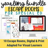 BUNDLE | Digital Escape Rooms for Special Education | Adap