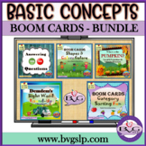 BOOM CARDS Language and Literacy Basic Concepts BUNDLE  -