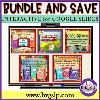 BUNDLE Digital Interactive Google Drive Units NO PREP NO PRINT - Teletherapy