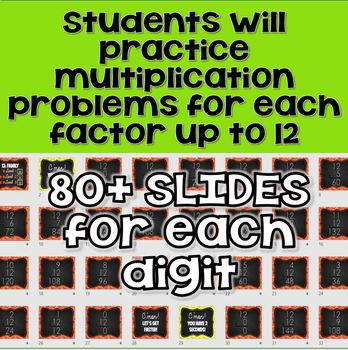 BUNDLE: Digital Multiplication Flashcards