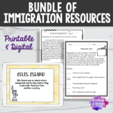 BUNDLE Digital and Printable Immigration Unit Resources