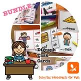 BUNDLE!! Digraph Task Cards (beginning and ending digraphs)