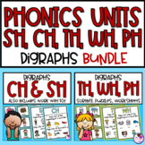 Digraphs SH, CH, TH, WH, PH Activities and Worksheets BUNDLE