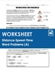 BUNDLE - Distance Speed Time Worksheets and Quiz