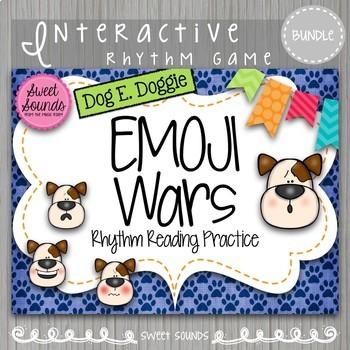 BUNDLE Dog E Doggie Emoji Wars {Interactive Rhythm Games}