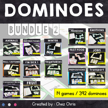 BUNDLE - Dominoes : 14 games for your fast finishers ! Set 2