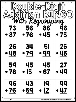 BUNDLE Double-Digit Addition Activities w/ & w/o Regrouping