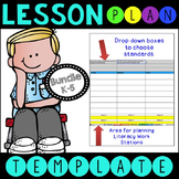 BUNDLE ELA CCSS Lesson Plan Templates with Drop Down Boxes