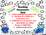 BUNDLE ENGLISH & SPANISH Reading Persuasive Text (Lectura