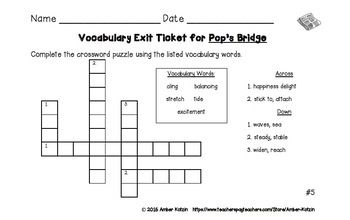 BUNDLE - EXIT TICKETS - Vocab & Spelling 3rd Grade Journeys Units 1-5 ©2014