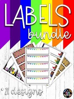 BUNDLE - Editable Labels
