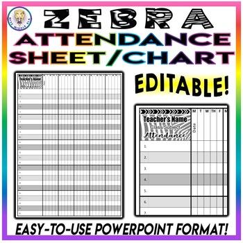 BUNDLE! Editable Lesson Plans, Attendance, Grade Book, & Class Roster! - Zebra
