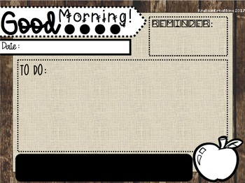 BUNDLE:Editable Morning Message Templates with EDITABLE Daily 5 Rotations Board