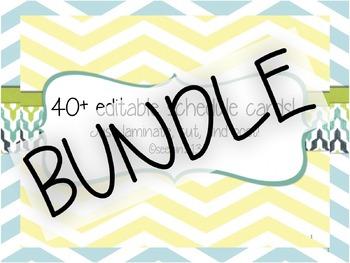 BUNDLE: Editable Schedule Cards