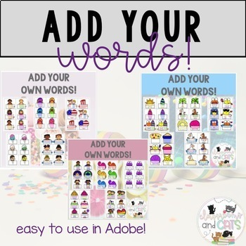 *GROWING BUNDLE* Editable Sight Word Cards for games & Write the room- 59 games!