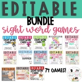 *GROWING BUNDLE* Editable Sight Word Cards for games & Wri