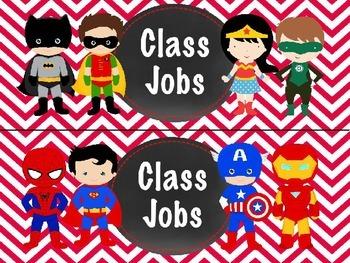 BUNDLE Editable Superhero Jobs In Chevron