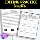 BUNDLE: Editing and Proofreading Sentences Practice Worksheets