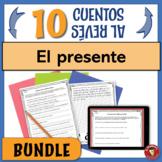 BUNDLE!!! El presente / Spanish Present Tense: 10 cuentos al revés