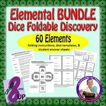 BUNDLE - Elemental Discovery Fun & Game - Practice Your Element ID & Details
