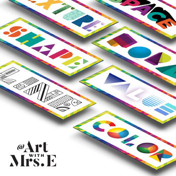 BUNDLE | Elements of Art & Principles of Design | Classroom Visuals