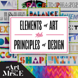 BUNDLE | Elements of Art & Principles of Design | Classroo