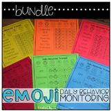BUNDLE Emoji Daily Behavior Monitoring Form ( 16 versions )