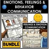 BUNDLE. Emotion, feelings, behavior & self regulation communication & supports.