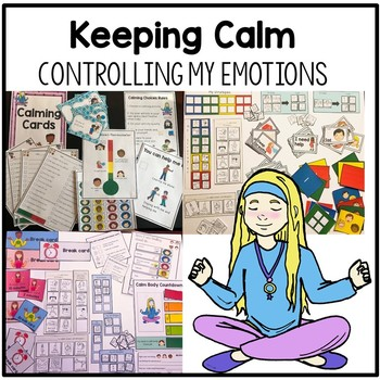 BUNDLE: Emotion, self regualtion control and behavior. Visuals and supports.