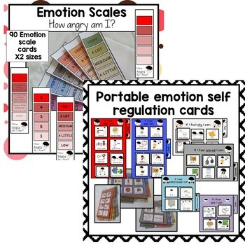 Emotion self regualtion control and behavior | visuals and supports