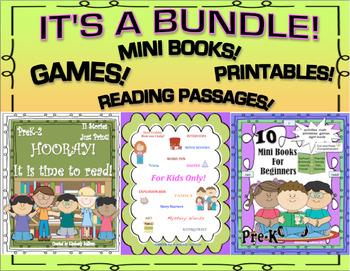 BUNDLE Back to School Games Mini Books Printables