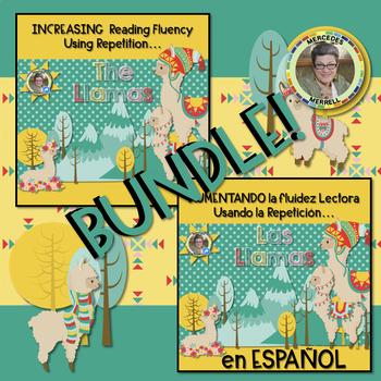 BUNDLE! Eng. and Span. Increasing Reading Fluency Using Repetition...LLAMAS
