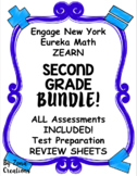 BUNDLE Engage NY Eureka Math Zearn SECOND GRADE Assessments for ALL MODULES!