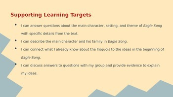BUNDLE Engage New York ELA Grade 4: Module 1A: Unit 2: Eagle Song