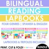 BUNDLE! English & Spanish Lapbook + Trifold! Poetry, Biography, Novel Study & NF