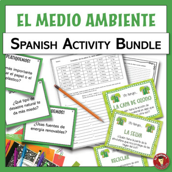 BUNDLE!!! Environment themed Spanish resources | El medio ambiente